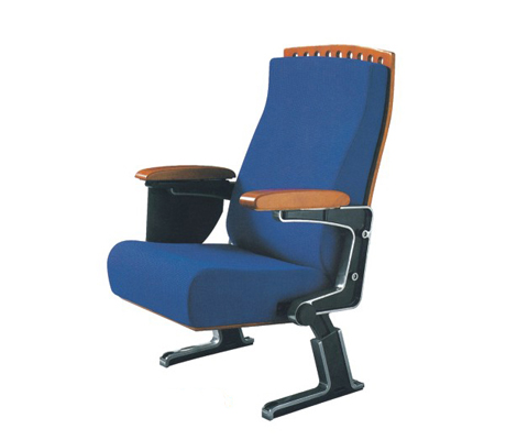 豪华顶配 亚奇家具 单人蓝色礼堂椅