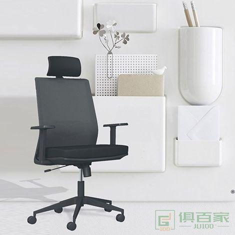 格诺瓦 格诺瓦办公椅转椅高靠背大班椅人体工学家用电脑椅网布 转椅黑坐垫带头枕