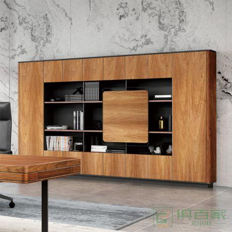兆生saosen家具格镭-系列办公家具文件柜 木质高柜  老板办公室书柜