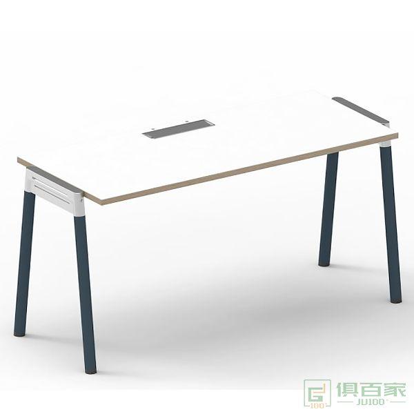 迪欧家具马卡龙系列职员桌单人桌现代简约风单人职员桌办工桌
