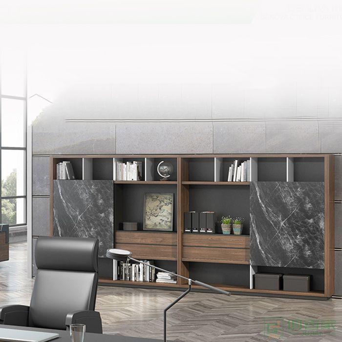 格诺瓦办公文件柜资料柜书柜高柜木质储物柜新款文件柜办公室柜子