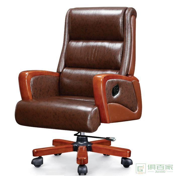 旭东升真皮老板办公椅现代电脑椅大班椅总裁椅可躺
