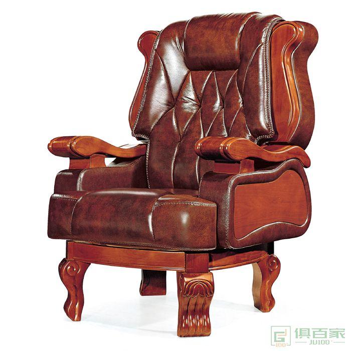 旭东升真皮老板办公椅电脑椅商务轻奢大班椅总裁椅可躺
