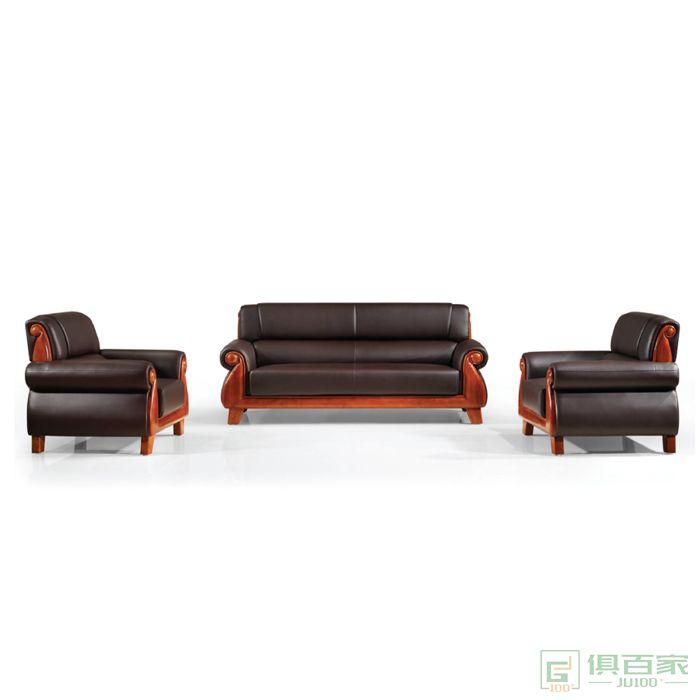 旭东升办公沙发时尚三人沙发办公室沙发牛皮沙发老板经理会议沙发