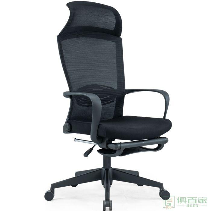 优百丽主管椅电脑椅网布现代办公椅简约弓形靠背家用升降转椅凳子