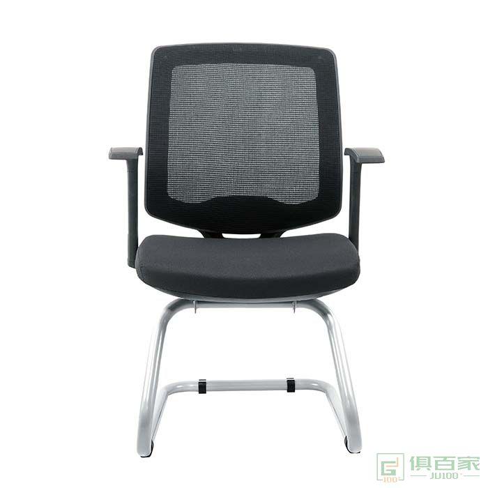 卓铭电脑椅职员靠背椅子舒适办公椅简约网椅转椅弓形