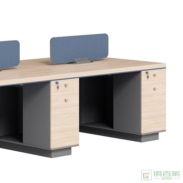 奥特莱斯家具拜登系列职员办公桌简约现代办公家具四4人屏风工作位员工电脑桌