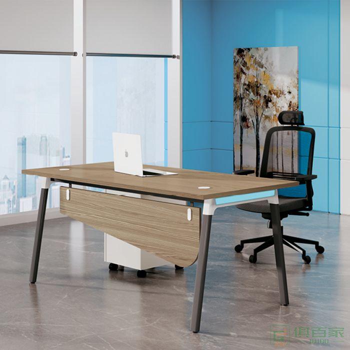 国贸办公桌简约现代经理主管办公室老板桌子单人