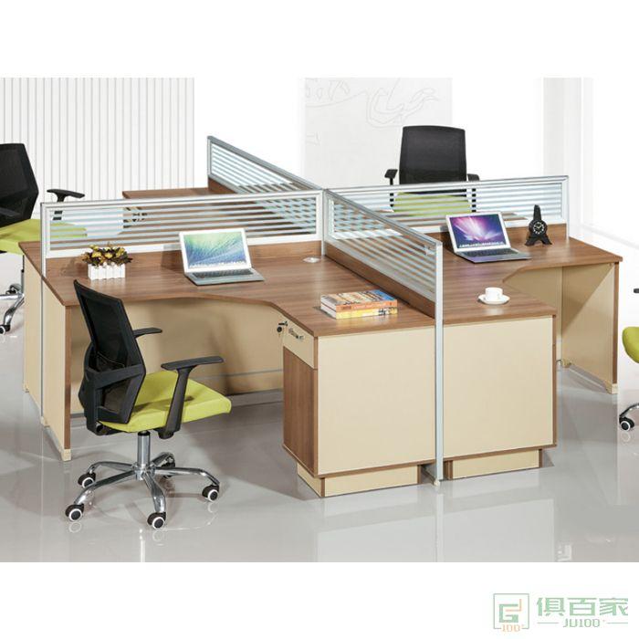 华都办公家具职员桌屏风卡座员工桌办公桌椅组合简约现代2-4-6人位