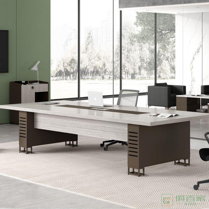 华都简约现代会议桌长桌长方形会议室桌子接待洽谈简易长条桌
