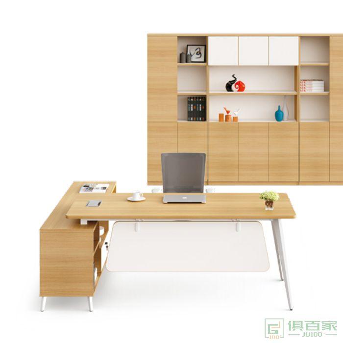 华都简约现代办公室经理办公桌大板桌总裁桌办公家具