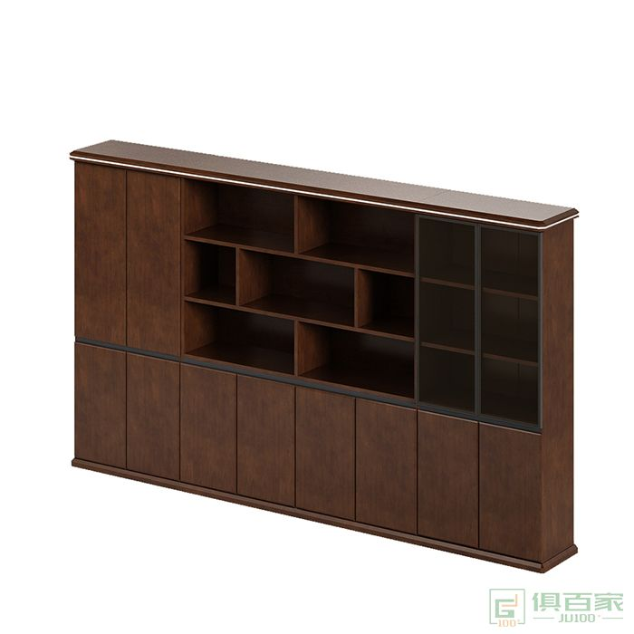 格斯图文件柜资料柜储物档案柜子木质高柜老板室书柜家具