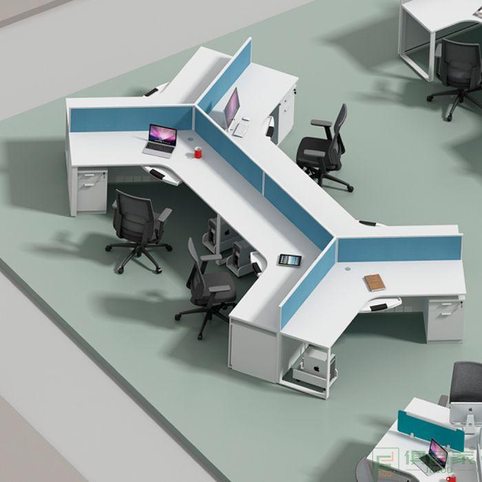 海沃氏职员工位办公桌椅组合办公室四人位办公桌2 4 6人位屏风隔断卡座