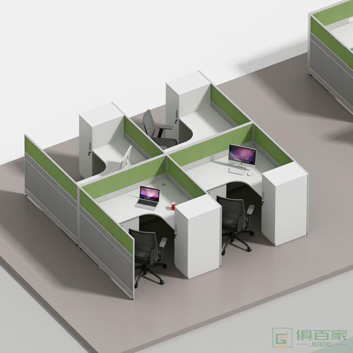 海沃氏办公家具职员桌屏风卡座员工桌办公桌椅组合简约现代2-4-6人位