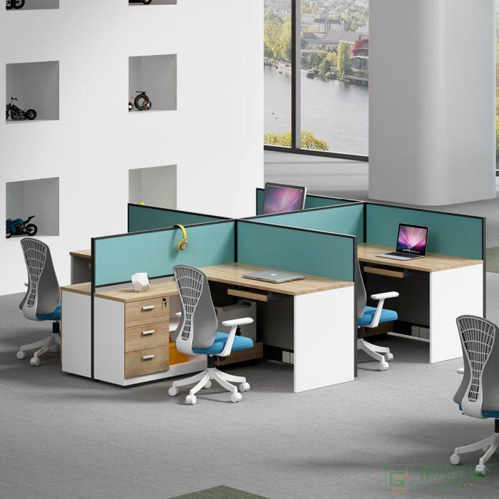 海沃氏电脑办公桌四人位电脑桌简约现代工位桌办公台职员办公室组合桌子