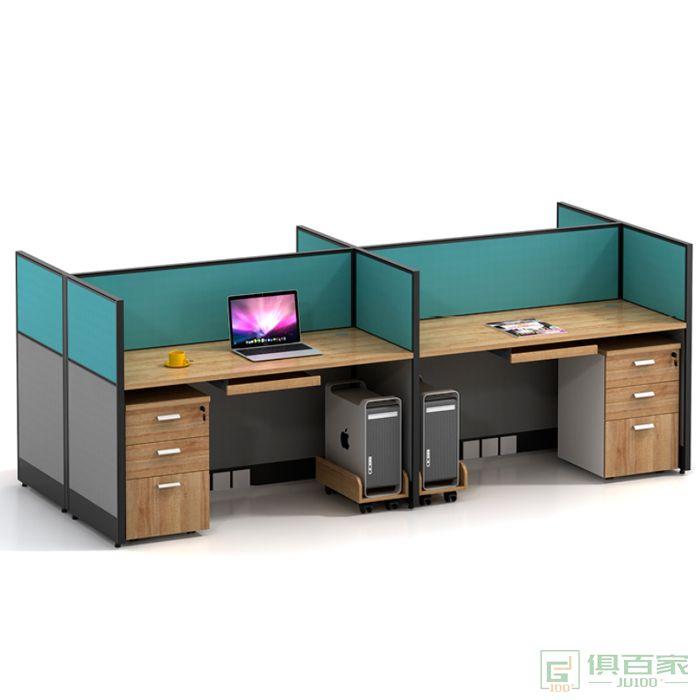 海沃氏办公桌4人工位屏风位隔断办公桌椅组合职员电脑桌财务桌/职工桌