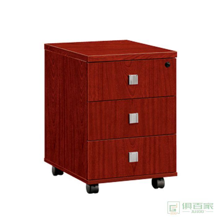 冠诚办公家具实木油漆办公矮柜活动茶水柜储物柜边柜收纳柜