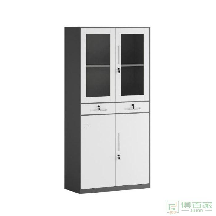 正大新款文件柜加厚钢柜办公资料柜玻璃铁皮柜仪器柜带锁抽屉柜档案柜