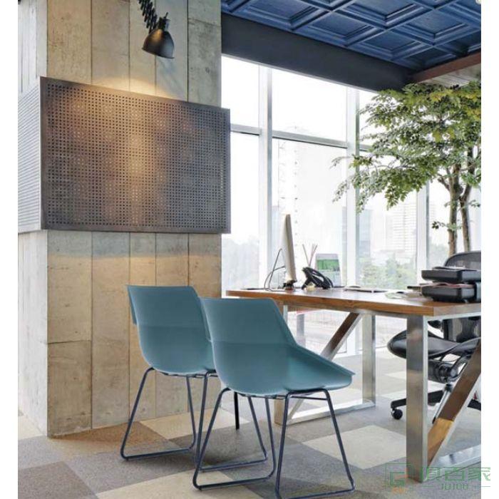 新越单人沙发椅轻奢客厅阳台休闲设计师办公室马鞍皮椅