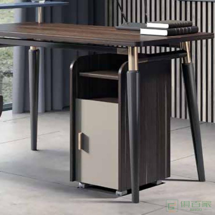 震庭办公室木质文件柜带锁办公小柜子储物柜移动矮柜桌