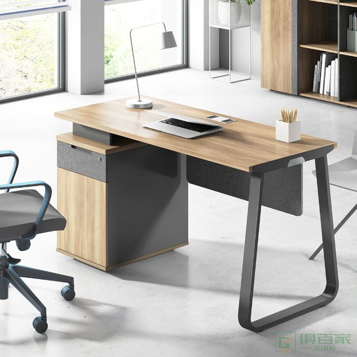 震庭经理办公桌老板单人桌椅组合主管工位电脑椅简约职员办工中班台