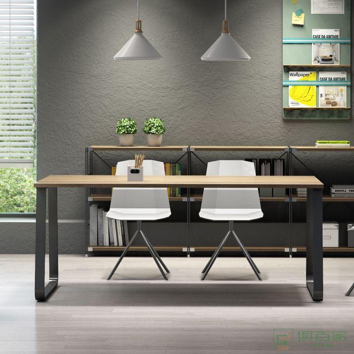 震庭会议桌长桌简约现代工作台长条桌简易办公桌培训接待洽谈桌