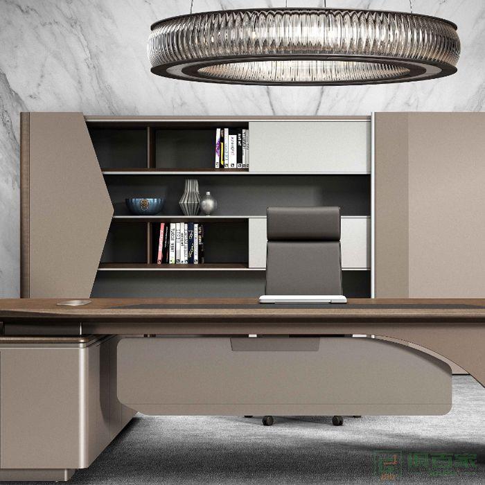 高卓老板文件柜资料柜带锁柜子储物柜办公室木质现代办公柜档案柜子