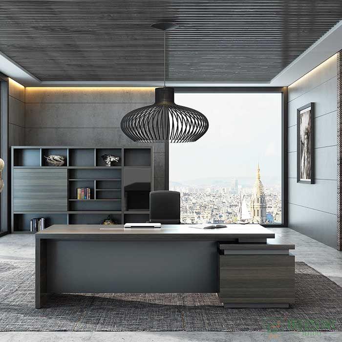 高卓家具锐智系列办公家具老板桌总裁桌简约现代大班台大气经理办公桌