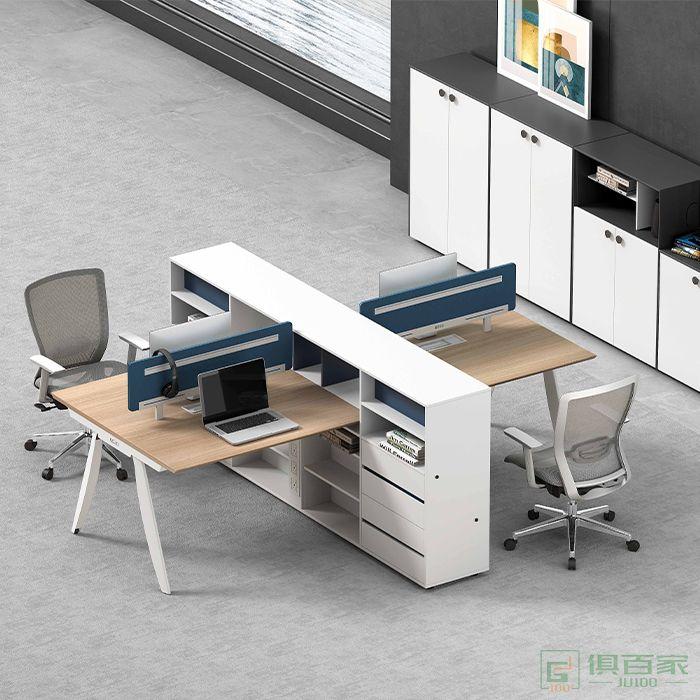 高卓家具卡诺系列办公家具简约现代办公桌椅组合职员桌员工位4人电脑桌工作位