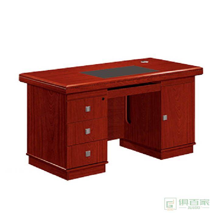 冠诚中式办公电脑桌油漆单人写字台经理办公桌学校单位办公台