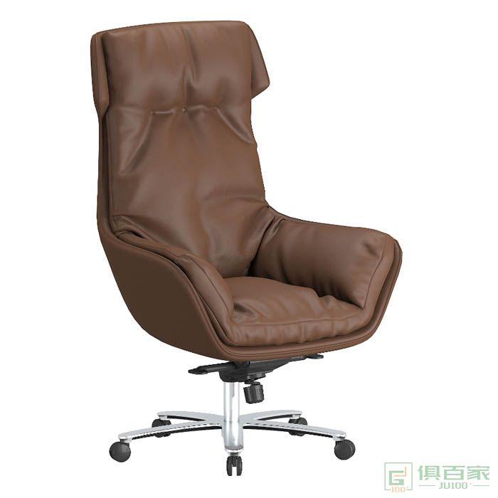 高卓 老板椅真皮办公椅子可躺 电脑椅家用商务大班椅高靠背书房椅