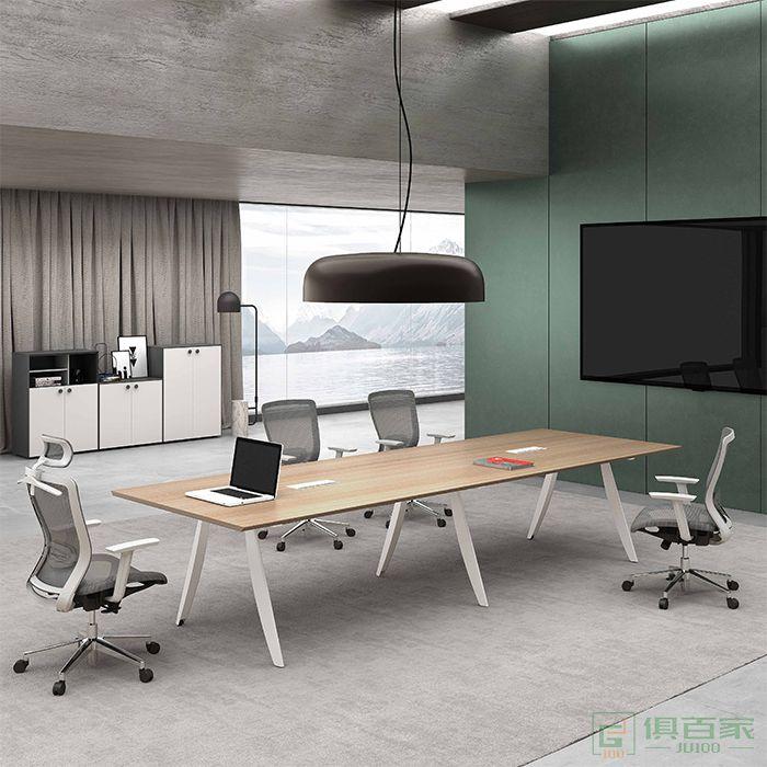 高卓家具卡诺系列会议桌长桌简约现代洽谈桌办公室大型会议办公桌办公家具