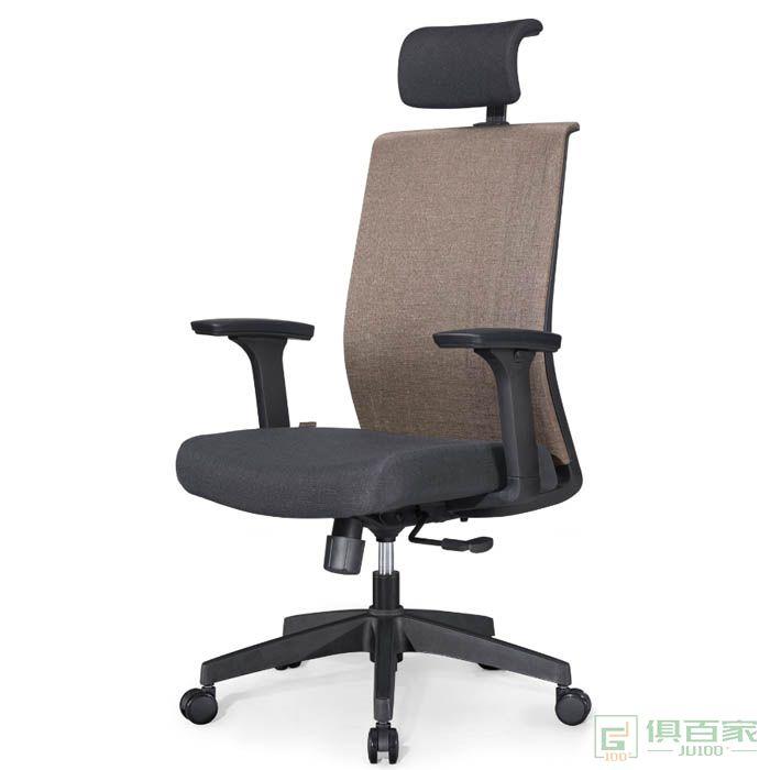 高卓电脑椅网布会议办公椅职员椅员工靠背椅家用学习麻将升降转椅