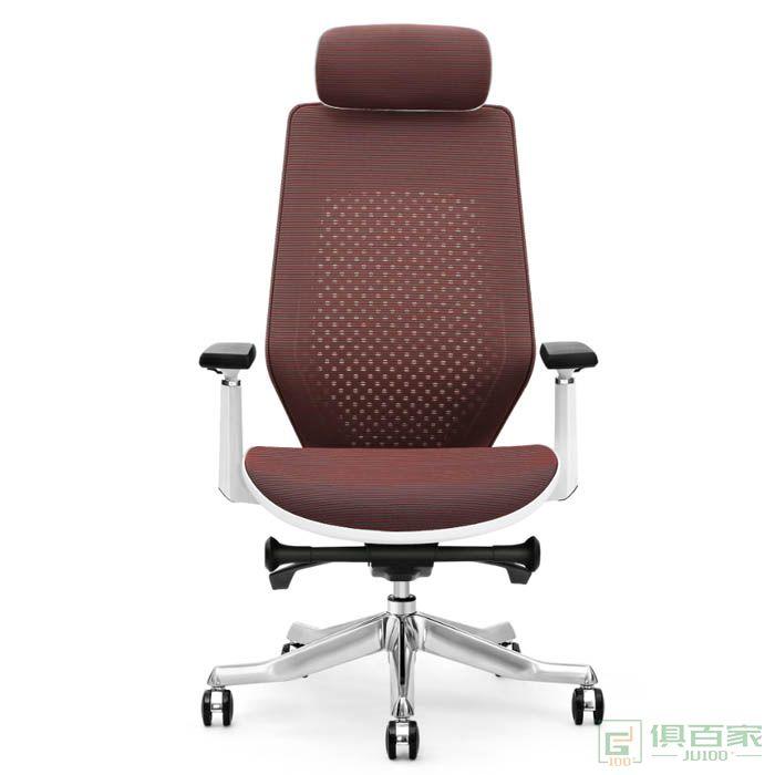 高卓人体工学电脑椅 家用 多功能护腰办公椅子老板椅 转椅网布椅