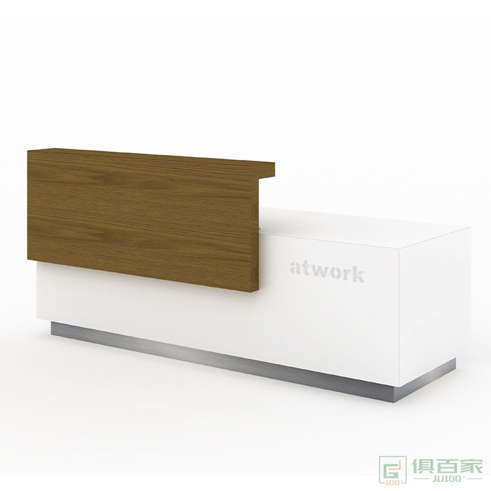 兆生家具方毅-系列办公家具公司教育美容院咨询前台办公室木质高低吧台桌接待台