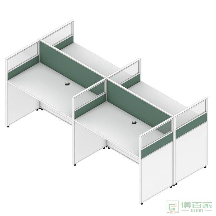 高卓家具屏风系列屏风位职员桌对坐四人位