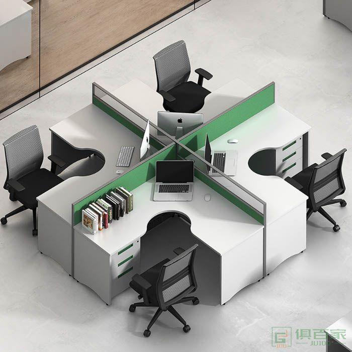 高卓家具屏风系列十字型四人位屏风位