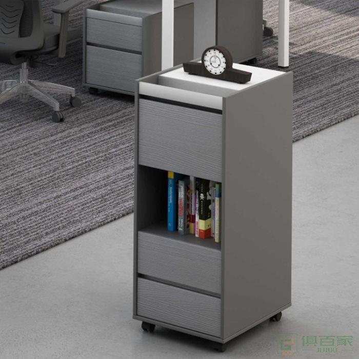 高卓家具卢米系列边柜超薄现代简约活动柜