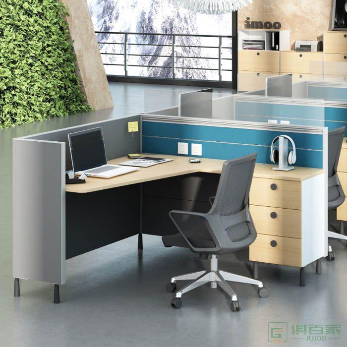 高卓家具库艾特系列单人位屏风位职员桌