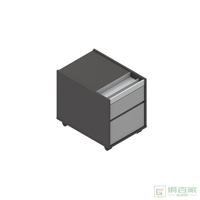 高卓家具卢米系列活动柜抽屉柜移动矮柜带锁钢制文件柜收纳小柜子