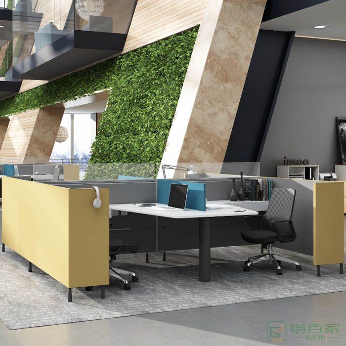 高卓家具库艾特系列工字型四人位屏风位职员桌