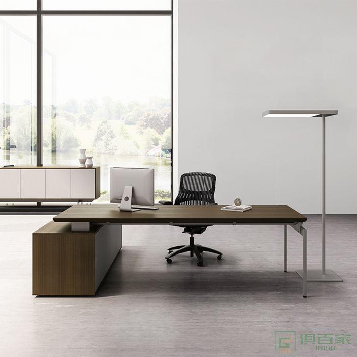 欧美斯家具Oswald-xl奥斯班台简约现代总裁室经理主管家具单人大气大班台