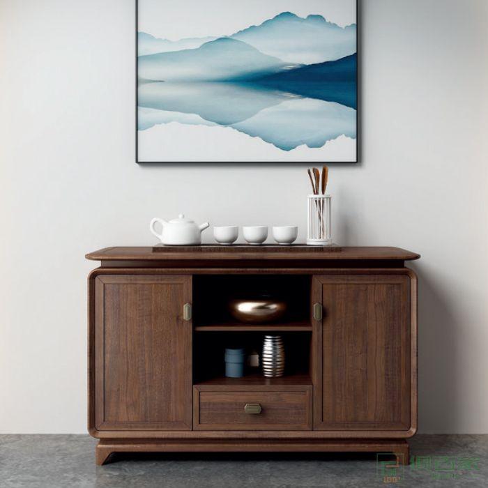 东业家具板木系列茶水柜储物柜办公室