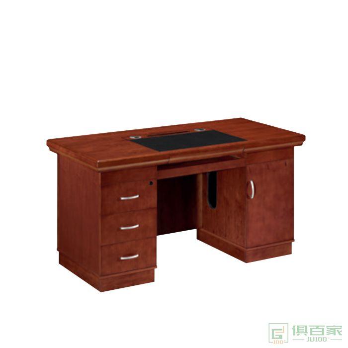 东业家具传统系列实木电脑桌台式办公桌