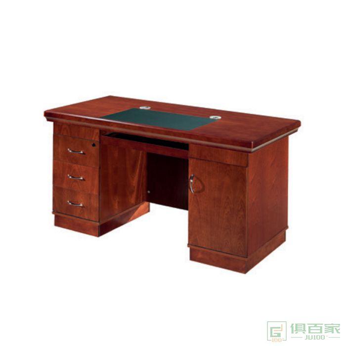 东业家具传统系列单人办公室老板桌子教师财务职员工电脑桌