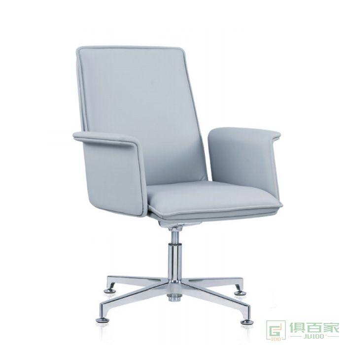 精一家具会议椅皮质椅简约办公椅