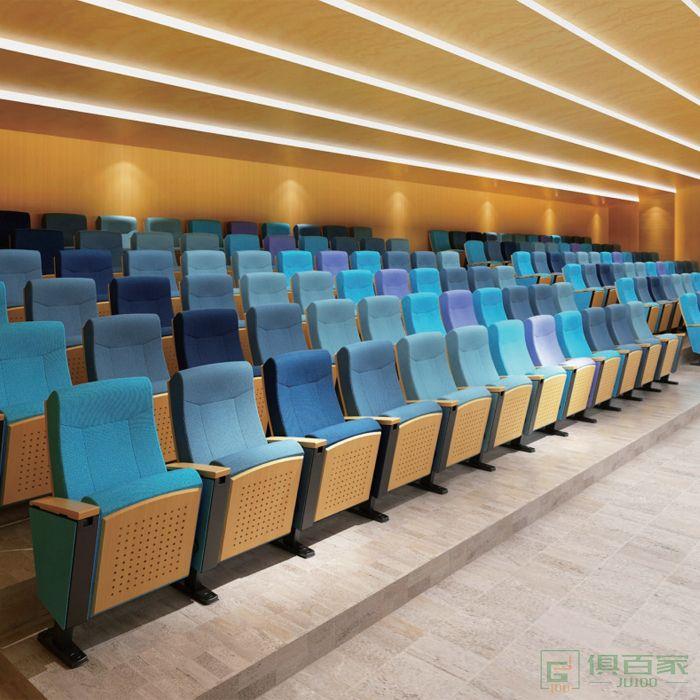 精一家具弘时系列礼堂椅排椅影院阶梯教室公共连排椅