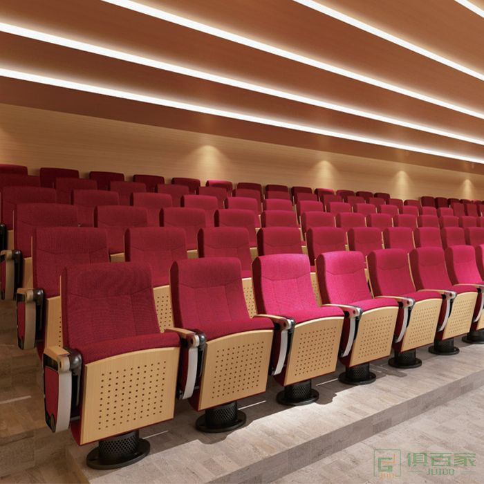 精一家具弘时系列礼堂椅剧院椅带写字板会议室座椅培训会议椅排椅