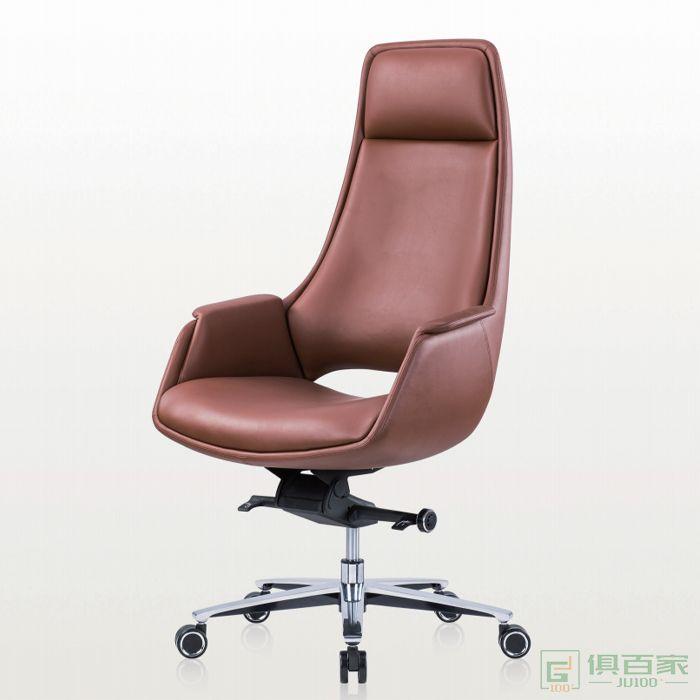精一家具班椅老板椅办公椅皮椅