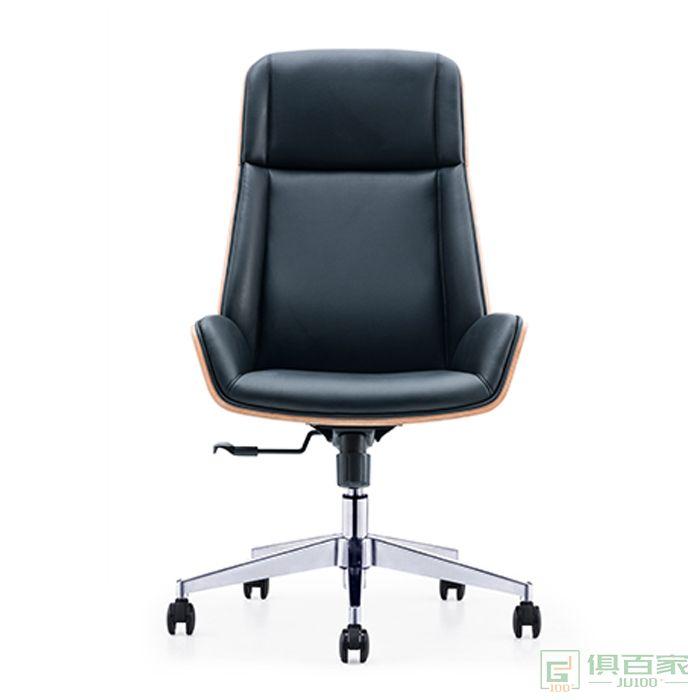 精一家具班椅皮椅老板椅办公椅